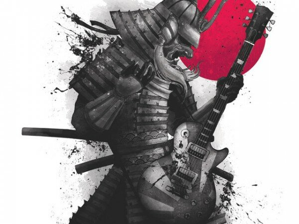 samurai-warrior-guitar-player-t-shirt